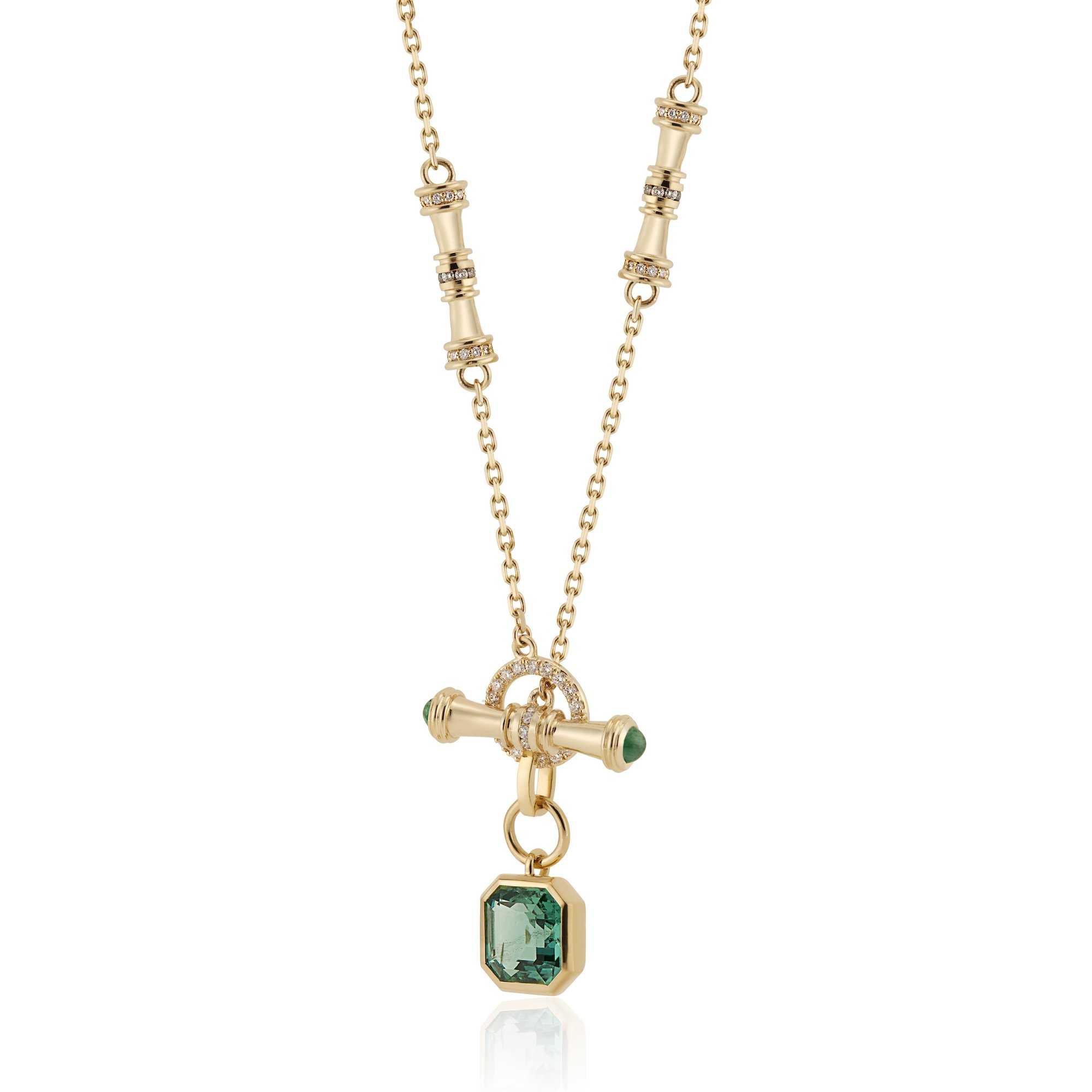 Voluta Chain with Emerald Drop, Contact Us